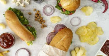 top-view-sandwiches-hamburger_23-2148262928